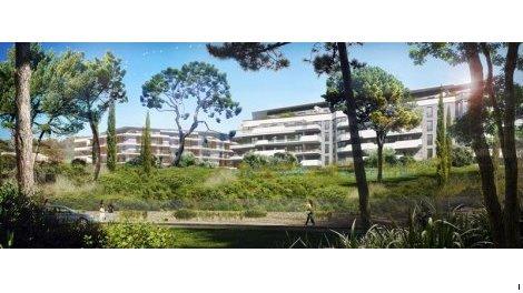 Appartement neuf Cannes Green Dom Bat I+j investissement loi Pinel à Cannes-la-Bocca