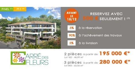 Appartement neuf Carré des Fleurs investissement loi Pinel à Nice