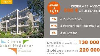 Appartements neufs Coeur Saint Antoine investissement loi Pinel à Nice
