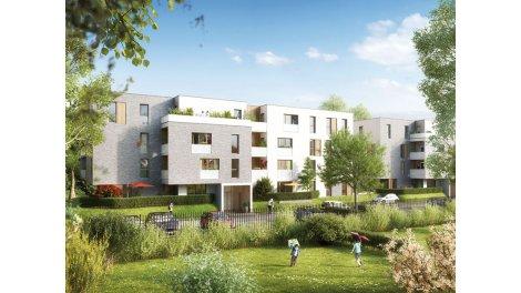 Appartements neufs Les Chemins du Bailly investissement loi Pinel à Marcq-en-Baroeul