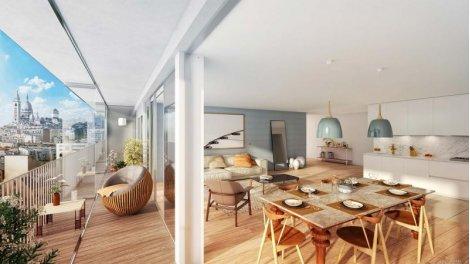 Appartement neuf 122 Damrémont - Nue Propriété éco-habitat à Paris 18ème