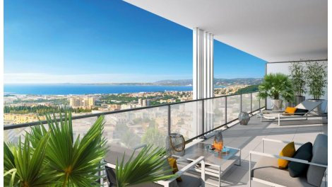 Appartement neuf Corniche Marine éco-habitat à Nice