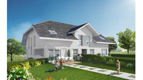 Appartement neuf Les Carres du Pecheur investissement loi Pinel à La Balme-de-Sillingy