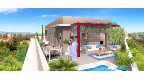 Appartement neuf Patio Riviera - Csm-767 investissement loi Pinel à Cagnes-sur-Mer