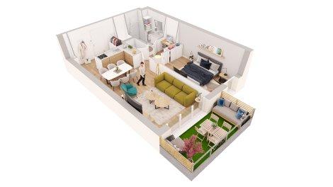 Appartements neufs Petit Quevilly Village investissement loi Pinel à Le Petit-Quevilly