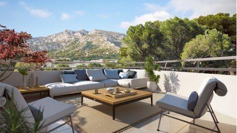 Appartement neuf Les Balcons du Baou investissement loi Pinel à Marseille 9ème