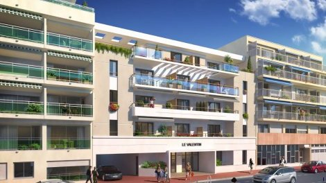 Appartement neuf Le Valentin investissement loi Pinel à Cannes-la-Bocca