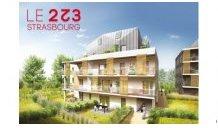 Appartements neufs Le 223 investissement loi Pinel à Strasbourg