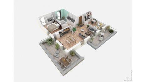 appartement neuf à Tours