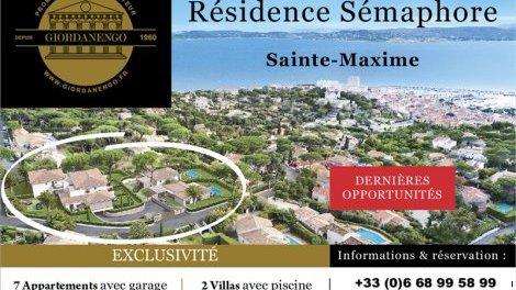 Appartements et maisons neuves Sainte-Maxime C1 investissement loi Pinel à Sainte-Maxime