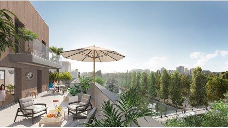 Appartement neuf Canal en Vues - Quai n° 6 éco-habitat à Noisy-le-Sec